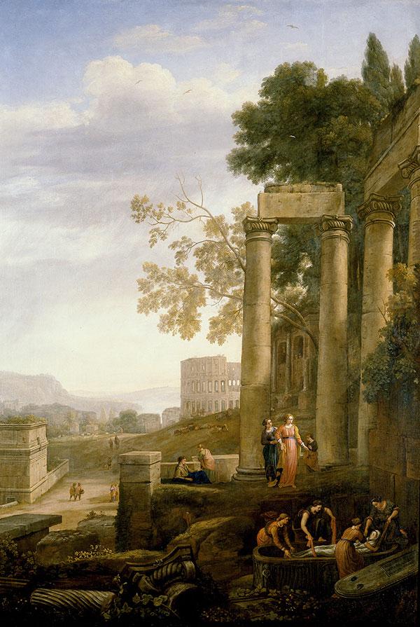 Клод Лоррен (Claude Lorrain) - Пейзаж с погребением святого Серапии, 1639
