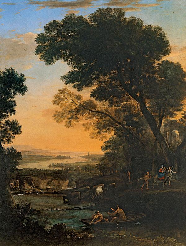 Клод Лоррен (Claude Lorrain)  - Pastoral Landscape with a Flight into Egypt, 1663