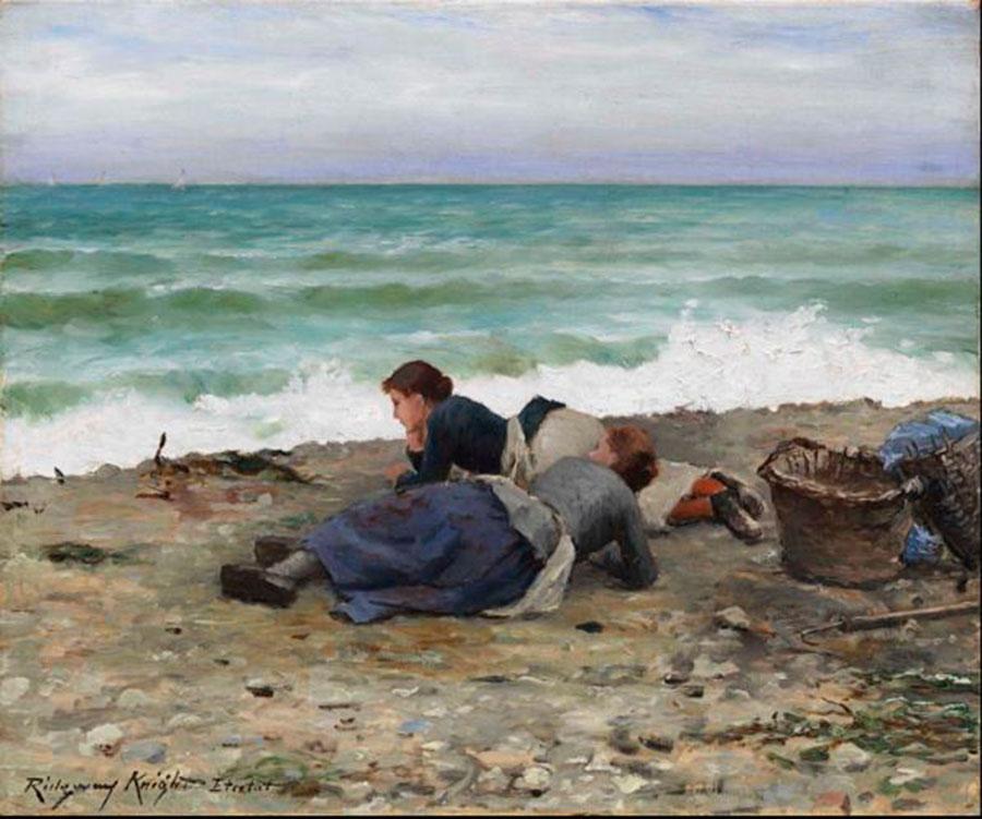 Дэниел Риджуэй Найт (Daniel Ridgway Knight) - художник, Этрета, 1884