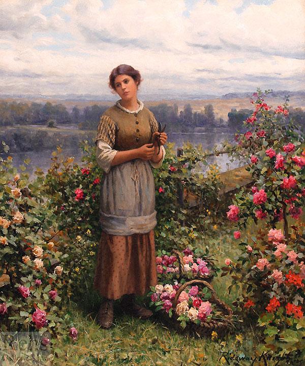 Джулия собирает розы, 1900