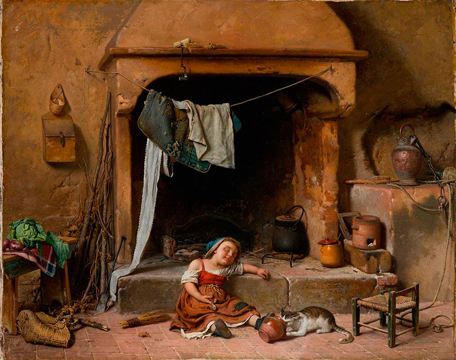 Гаэтано Чиерици (Gaetano Chierici) Подходящий момент, 1866
