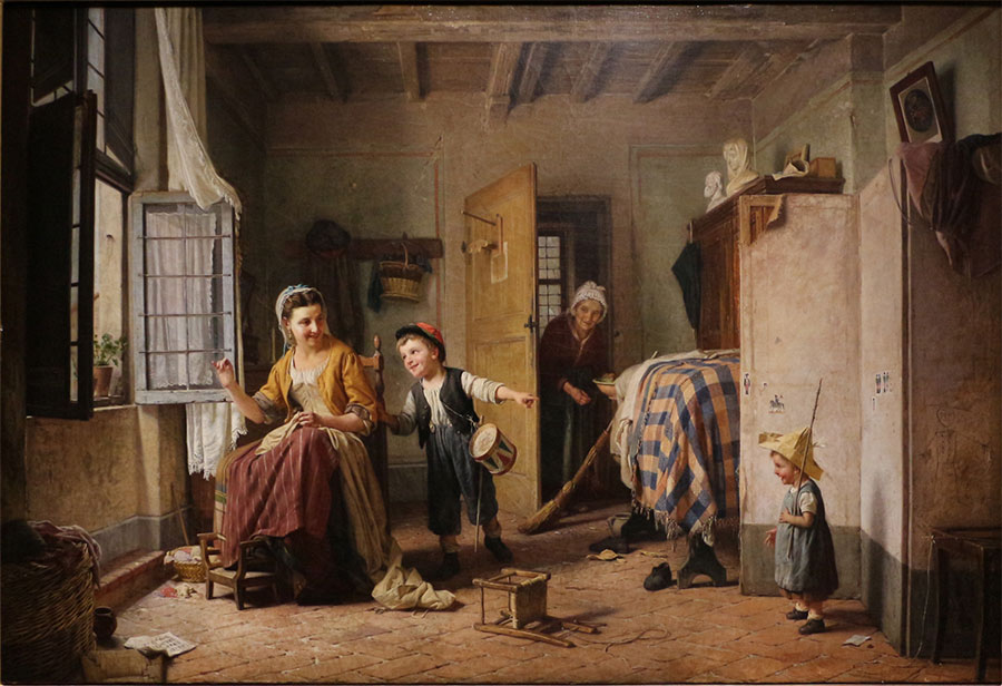 Гаэтано Чиерици (Gaetano Chierici), l'istinto alle armi, 1868