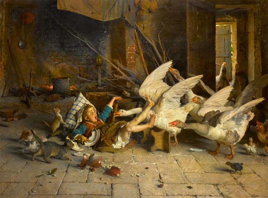 Гаэтано Чиерици (Gaetano Chierici), Удивлен!, 1888