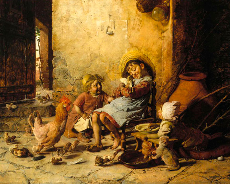 Гаэтано Чиерици (Gaetano Chierici), La chioccia, 1897