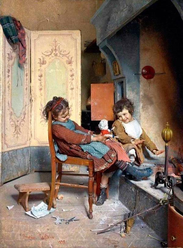 Гаэтано Чиерици (Gaetano Chierici), Дети и кукла