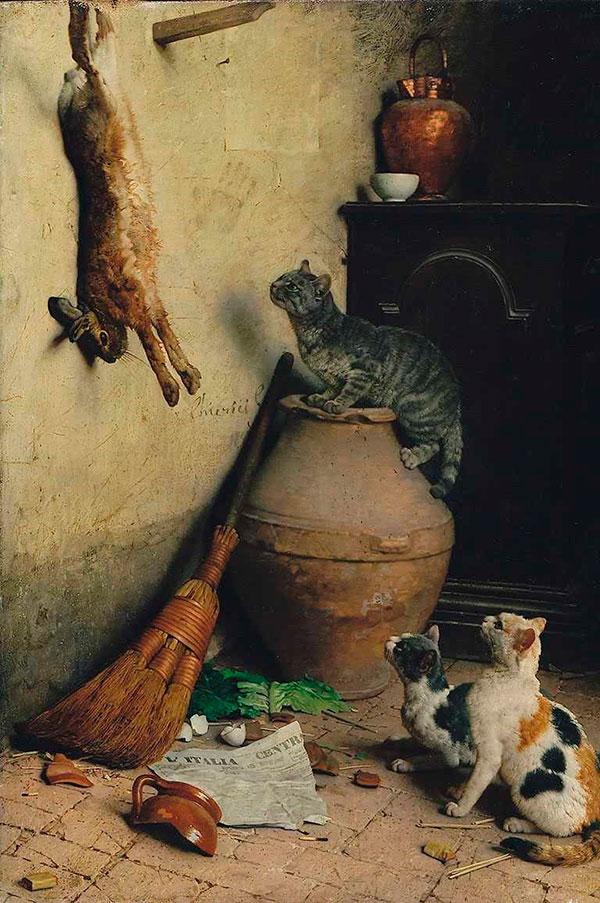 Гаэтано Чиерици, Кошки и кролик