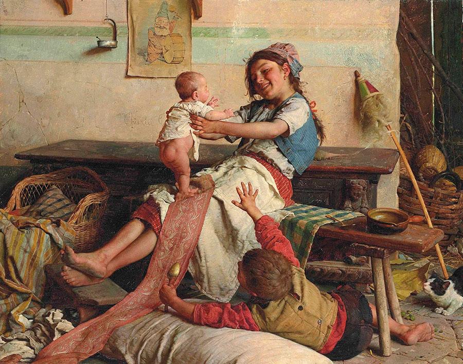 Гаэтано Чиерици (Gaetano Chierici), Девушка и ребенок