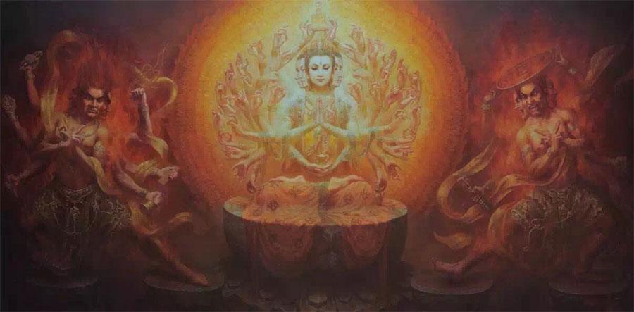 Цзэн Хао (Zeng Hao) — художник. Из серии Дуньхуан-тысяча рук и тысяча глаз Авалокитешвары
